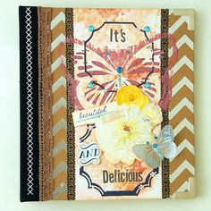 Scrapperlicious: It's Beautiful and Delicious Misc Me by Irene Tan using BoBunny Sweet Life collection, Misc Me products, washi tapes, lace, glitter paste, stencils, pearlescents, jewels