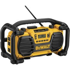 DeWalt DC012 Worksite Charger/Radio. This highly rugged radio will also charge your cordless power tools' batteries. Also works as a cordless radio with your tool's battery!