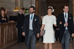 Prince Carl Philip, The Crown Princess and Prince Daniel in the Royal Chapel. Photo: David Sica/Stellapictures
