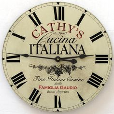 A custom kitchen clock by John Borin makes the perfect Mother's Day gift.