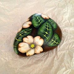 Hand Painted rock of two red tulips by gusismom on Etsy