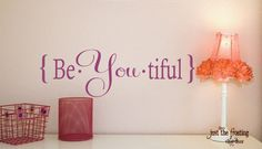 Cute! Wall decal, great for a lil girls room.