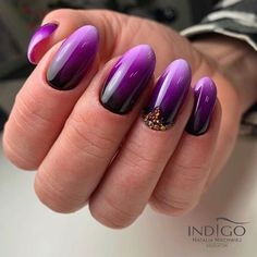 Ombre Style, Purple, Nails, Painting, Beauty, Finger Nails, Ongles, Painting Art, Purple Stuff