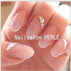 ネイル 画像 Nail salon PERLE 大分 1103607 白 その他 ブライダル ソフトジェル ハンド