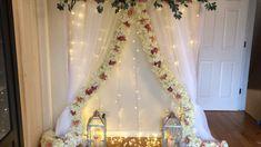 May 2019 - DIY-Floral garland backdecor Diy Wedding Backdrop, Diy Backdrop, Backdrop Decorations, Indian Wedding Decorations, Flower Backdrop, Backdrops, Ganapati Decoration, Decoration Evenementielle, Decoration For Ganpati