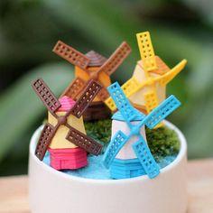 Mini Cute Windmill Micro Landscape Garden DIY Decoration   BidderFace