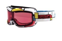 Bolle Monarch Snow Goggles (Blocks, Modulator Vermillon) by Bolle. $63.99. The Bolle® Monarch women's snow goggle is an excellent piece of sporting equipment that's designed for any skier or boarder. The medium-fit goggle features double-layer face foam and Flow-Tech™ venting to reduce fogging and optimize air flow. Its polycarbonate double lens receives P80 Plus/Carbo Glas, a coating that provides maximum protection against unwanted lens fogging and most scratching.