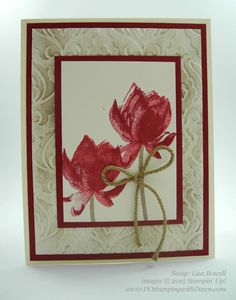 Sale-A-Bration Lotus Blossom swap card shared by Dawn Olchefske #dostamping #stampinup (Lisa Bowell)