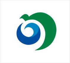 Noshiro, Akita. The hiragana in this flag represents the Sea of Japan and Shirakami Mountains.