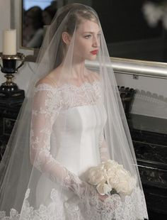 A drop veil should look like this. No poof, sheer, long and flowing and with lace trim. I prefer a more delicate lace trim.