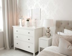 In several dormitories Ikea bedrooms are happy to be viewed, as they give numerous answers for a stylish bedroom facility. The considerable range of Swedish bedroom furniture also offers useful space Bedroom Corner, Ikea Bedroom, Room Decor Bedroom, White Chest Of Drawers, Boho Chic Bedroom, Home And Deco, Bedroom Styles, Beautiful Bedrooms, New Room