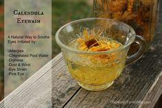 Calendula Eyewash - Natural Remedy for Irritated Eyes due to Allergies, Pool Water, Dryness, Eye Strain, Pink Eye...