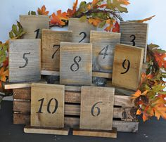 numéros de table de mariage rustique avec par Elevatedpartysupply
