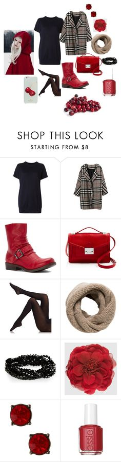 """Cranberry."" by pixikiss ❤ liked on Polyvore featuring Isabel Marant, 2 Lips Too, Loeffler Randall, Fogal, MANGO, Gucci, Nordstrom Rack, Essie, Kate Spade and winterstyle"
