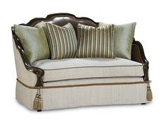 Simone Loveseat, Compositions, Schnadig.    www.mkhomedesign.com    Tailored yet curvaceous.