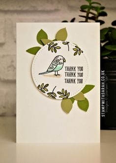 Thank you cards using Bird Banter stamp set from Stampin' Up!