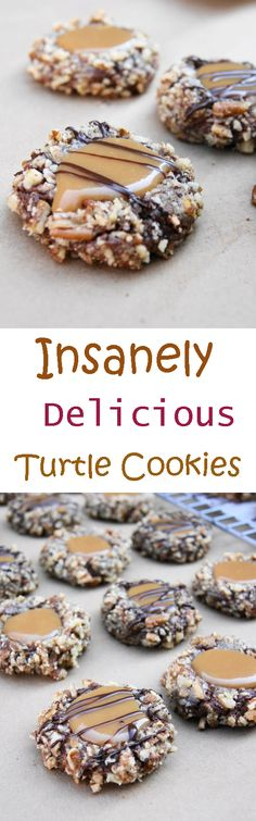Easy to Insanely Delicious Turtle Cookies