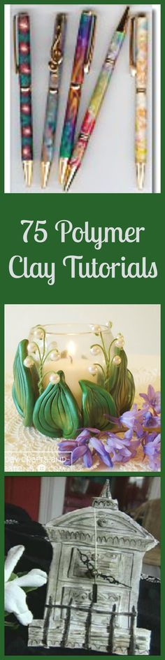 75 Polymer Clay Tutorials - one of these is of a wedding chapel - loved it! Fimo Polymer Clay, Diy Fimo, Polymer Clay Projects, Polymer Clay Creations, Polymer Clay Jewelry, Play Clay, Clay Design, Paperclay, Clay Charms