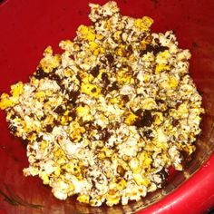 Chocolate popcorn (use chocolate chips)