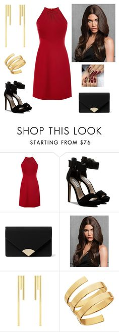 """Red"" by paoladouka on Polyvore featuring Karen Millen, Steve Madden, MICHAEL Michael Kors and Lana"