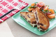 Taleggio & Olive Tapenade Grilled Cheese Sandwiches with Spiced Citrus Jewel Salad. Visit http://www.blueapron.com/ to receive the ingredients.
