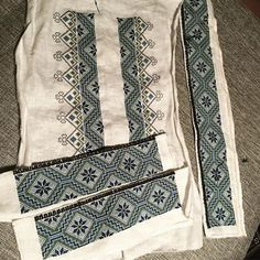 Etter x antall timer og x antall korssting er jeg endelig i mål med broderiet til bunadskjorta mi:) #bunad #beltestakk #beltestakkfratelemark #korssting #bunadskjorte #håndarbeid #broderi #bunadbroderi Hardanger Embroidery, Going Out Of Business, Head Pieces, Aprons, Fiber Art, Sewing Projects, Quilts, Clothes, Outfits