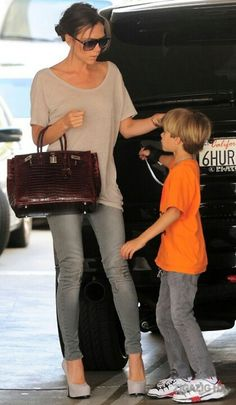 Victoria Beckham and son
