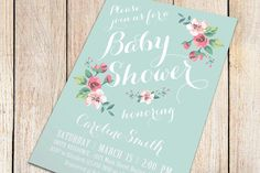 Printable Baby Shower Invitation  Spring/Summer Baby by plpapers, $16.00 @Stephanie Nyman