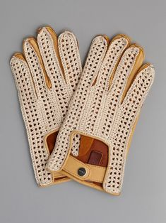 perfection! #leather #crochet #mits