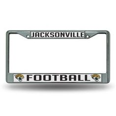 """Jacksonville Jaguars Chrome """"Football"""" License Plate Frame"""
