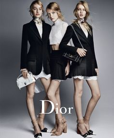 Roos Abels, Maartje Verhoef, Sofia Mechetner by Patrick Demarchelier for Dior Spring Summer 2016 (2) • Minimal. / Visual. • Fashion Photography, Runway, Style
