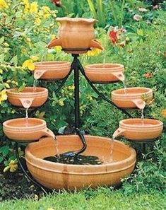 Antique Brown Cascade Solar Fountain I Have This Solar Powered