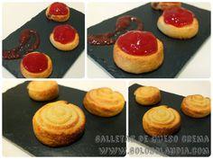 ¡Mirar que galletas de queso crema! Tenemos la receta, paso a paso. ¿que fácil?  http://www.golosolandia.com/2014/11/galletas-de-queso-crema.html
