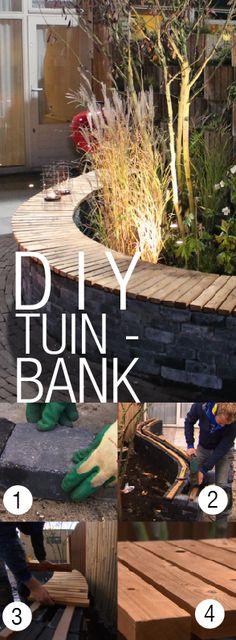 DIY: Kronkelende tuinbank
