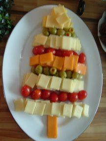 cheese appetizer Christmas tree idea - @Karyn Curtis - Wednesday 2nd appetizer