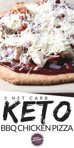 Keto Barbecue Chicken Pizza is one of our all-time favorite low carb pizza options perfect for pizza night any night. Cut the carbs not the flavor when it comes to your pizza. Diabetic Recipes, Low Carb Recipes, Real Food Recipes, Free Recipes, Low Carb Pizza, Low Carb Keto, Sugar Free Barbecue Sauce, Barbecue Chicken Pizza, Food Stamps