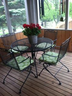 Arlington House Glenbrook Black 5 Piece Patio Dining Set