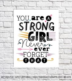 Inspirational Quote Print Tween Girl Gifts by thedreamygiraffe