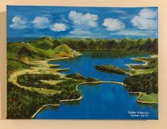 Azores acrylic on canvas painting. Azores, Golf Courses, Online Shopping, Canvas, Water, Painting, Outdoor, City, Peace