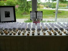 Seating Card Table with JJ's Rockin Cupcakes and Their Memorable Menu