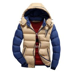 Plus Size M- 4XL 2016 New Men's Thick Hooded Parkas Men Thermal  Warm Casual Jackets,Fashion Padded Brand Clothing SA076 #>=#>=#>=#>=#> Click on the pin to check out discount price, color, size, shipping, etc. Save and like it!