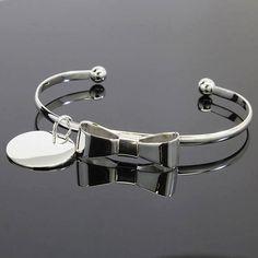 Beautiful German Silver Bow Bracelet by Thepolishedarrow on Etsy