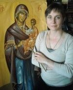 Mari Zabyshnyi, my icon painting teacher. I'm longing for the time I can to go to her classes again... She is not just a brilliant teacher, she's also a lovely person!