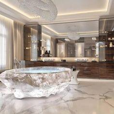 30 Luxury Bathroom Decor Ideas Bathroom 30 Luxury Bathroom Decor Ideas - The Wonder Cottage Dream Bathrooms, Dream Rooms, Beautiful Bathrooms, Luxury Bathrooms, Master Bathrooms, Luxury Bathtub, Farmhouse Bathrooms, Marble Bathrooms, Dream Home Design