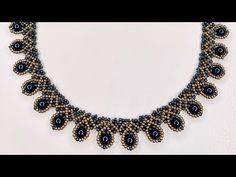 Beaded Necklace Patterns, Bracelet Patterns, Beading Patterns, Beaded Necklaces, Handmade Necklaces, Bead Jewellery, Diy Jewelry, Necklace Tutorial, Diy Necklace