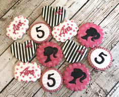 Items similar to Baby Shower Cookies Barbie Party Decorations, Barbie Theme Party, Barbie Birthday Party, 4th Birthday Parties, 5th Birthday, Birthday Ideas, Bolo Barbie, Barbie Cake, Little Girl Birthday