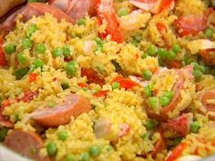 Lobster & Kielbasa Paella ~ serve with Avocado and Grapefruit Salad