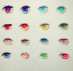 Eye Drawings Art studies/cheatsheets: Eyes with different colors Realistic Eye Drawing, Manga Drawing, Drawing Faces, Drawing Art, Drawing Tips, Eye Drawing Tutorials, Art Tutorials, Painting Tutorials, Art Drawings Sketches