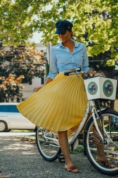 New navy blue faux leather pleated midi length women skirt spring summer Yellow Sweater Outfit, Yellow Skirt Outfits, Yellow Pleated Skirt, Pleated Skirt Outfit, Mustard Yellow Sweater, Midi Flare Skirt, Pleated Skirts, Mustard Skirt, Leather Midi Skirt