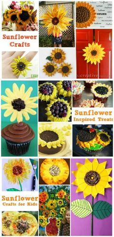 30 Stunning Sunflower Groups - something for all interests, age groups and skill sets. The only question.. which Sunflower craft will you make first!